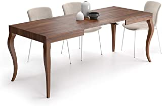 Mobili Fiver, Table Extensible Classico, Noyer, 120 x 80 x 76 cm, Mélaminé, Made in Italy