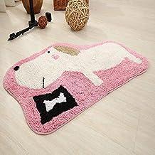 100% Cotton Rugs Cartoon Entrance Doormat Kids Room Rugs Anti-Skid Mat for Bedroom/Kitchen/Bathroom Decorative Rugs Bath M...