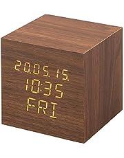 【1年保証有】 アイリスオーヤマ 置き時計 デジタル 目覚まし時計 めざまし時計 置時計 時計 木製 おしゃれ