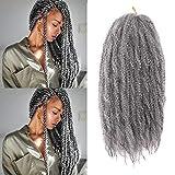 K&G HAIR 3Packs Marley Braiding Hair 18Inch Afro Marley Hair For Twists...