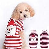 NO BRAND Pap Mascotas suter Hecho Punto Gato y Ropa for Perros Moda Linda Ropa para Mascotas (Color : Red, Size : XS)