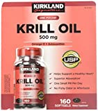 Kirkland Signature Krill Oil 500 Milligram 160 Softgels