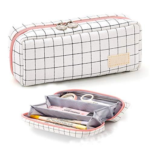 Rolin Roly Federmäppchen Cute Pencil Case Pouch mit Reißverschlüssen Langlebig Federmappe Schlampermäppchen Makeup Tasche für Jungen Mädchen Teenager