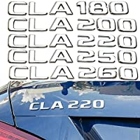 WSCLCP 車のリアトランク番号レターステッカー、メルセデスベンツに適合AMG CLA CLA180 CLA200 CLA220 CLA250CLA260トリムロゴエンブレムネームプレート