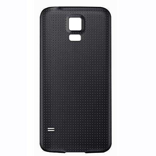 UU FIX Tapa de Batería para Samsung Galaxy S5 i9600 i9605 (Negro) de la Reemplazo Parte Trasera Battery Cover con Kit Reparación.
