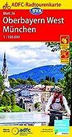 ADFC-Radtourenkarte 26 Oberbayern West / Muenchen 1:150.000, reiss- und wetterfest, GPS-Tracks Download
