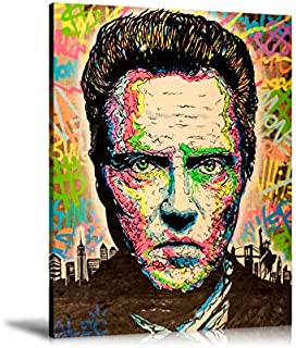 Zjhart HD Printed Oil Paintings Home Wall Decor Art on Canvas,Alec Monopoly Christopher Walken 4size#240 (Framed,24x32inch)