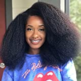 Kinky Curly Wig Synthetic Curly Afro Wigs for Black Women Big Natural Hair Wig Black Kinky Curly Wig Heat Resistant Fluffy Afro Curly Wigs