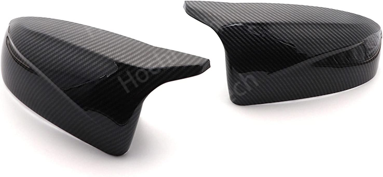 ATMASDO Carbon Fiber Pattern Side Special price for a limited time Outlet sale feature Wing Bright Rearview Black Mir