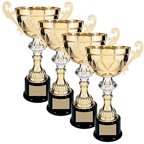 """On Top Awards - Gold and Silver Metal Trophy Cup Award with Black Base - 5 Sizes - Gold or Silver (Gold 14.50"""" - Pack of 1)"""