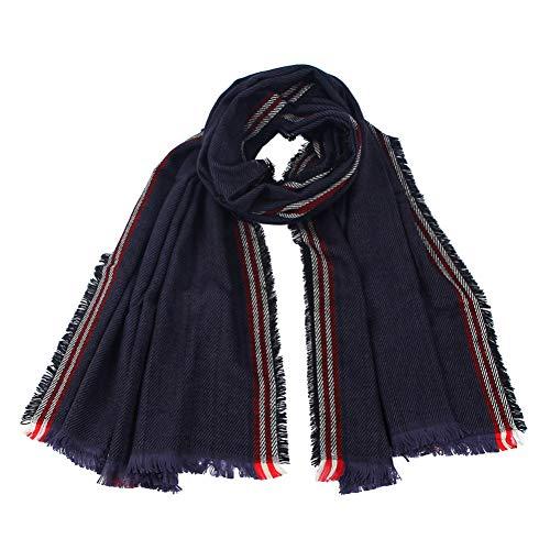 MYTJG Lady sjaal Mode Dame Blauw Gestreepte Deken Sjaal Sjaal Verpakt Warm Sjaal Herfst Winter Dames Sjaal