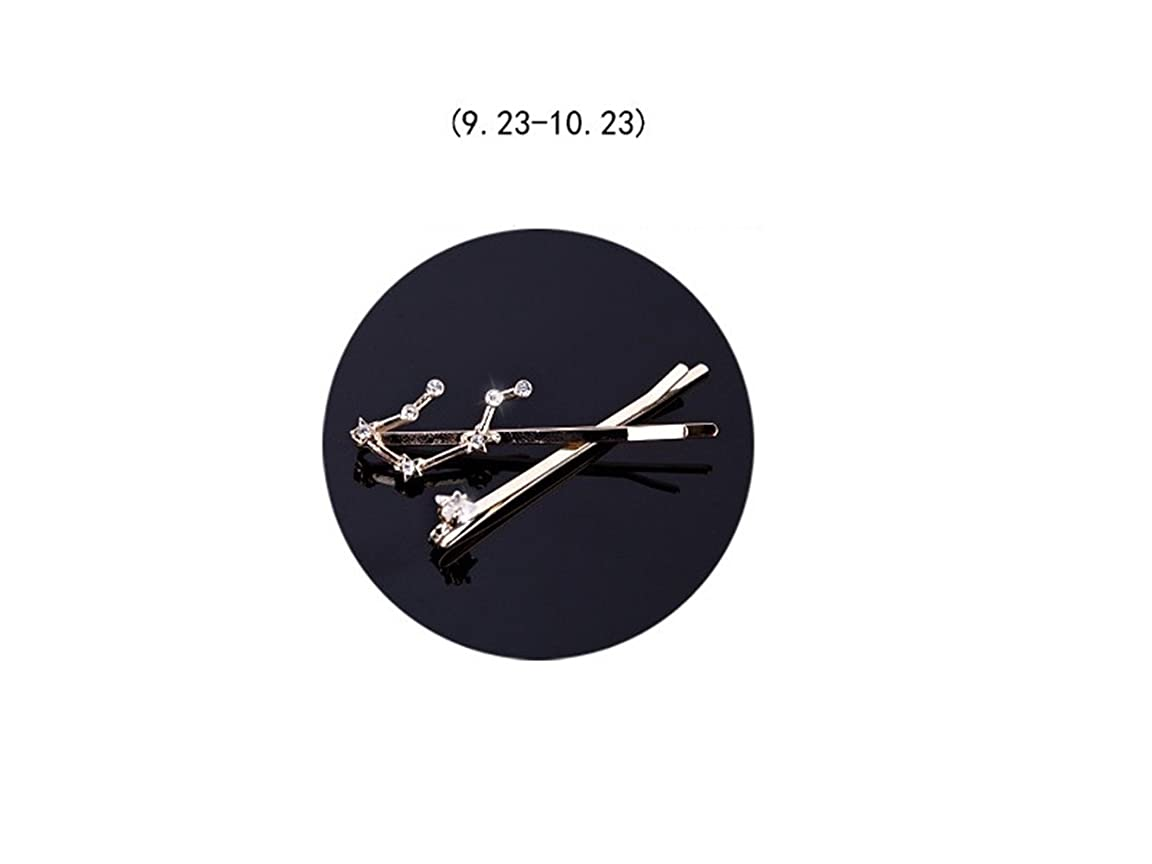 束ねる名詞競合他社選手Osize 美しいスタイル 12コンステレーションダイヤモンドジュエリーサイドクリップヘアピンヘアクリップセット(天秤座)