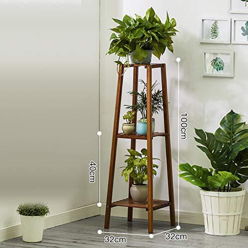 Porte-fleurs Bamboo Landing Multi-layer Rack pour succulentes intérieur Support pour balcon (Couleur : 32 * 32 * 100cm)
