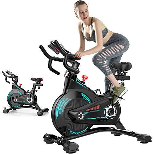 ATGTAOS Bicicleta Estática, con Cinturón, Resistencia Infinita, Bicicletas Estáticas, Equipos de Ejercicio y Bicicletas de Ciclismo para Entrenamiento en Casa