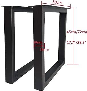 17.7″/28.3″ Square Heavy Duty Metal Bench Legs,Industrial Design Legs,Breakfast Bar Worktop Support Table Leg 5030mm,Set of 2,Gold,Black