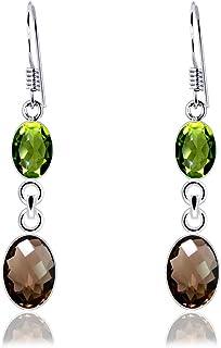 Pendentif En Argent Sterling 925 Orchid Jewelry 2.2 Ctw Marron Quartz Fum/é Ovale Beau Et Simple Cadeau DAnniversaire Sans Nickel Pour Elle