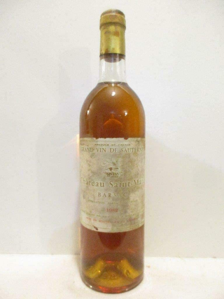 sauternes château saint-marc barsac liquoreux 1982 - bordeaux