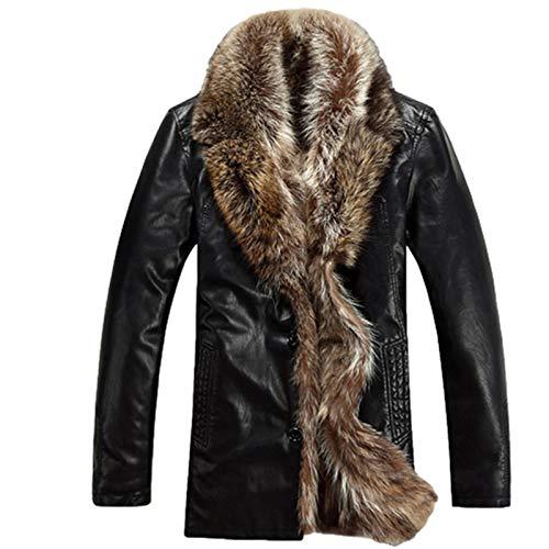 Chaquetas cálidas para Hombre, Cuello Vuelto con Abrigo Grueso Negro cálido de...