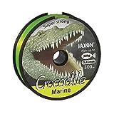 Jaxon Sedal de pesca marina Crocodile Marine, bobina monofilamento, 300 m, 0,45 mm, 30 kg, color amarillo fluorescente