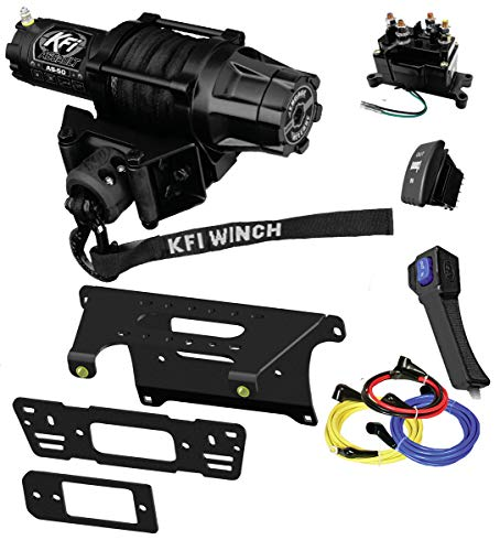 Lowest Price! KFI Combo Kit - AS-50 5000lb Assault Winch, Mount Bracket, Wiring, Switches, Remote Ki...