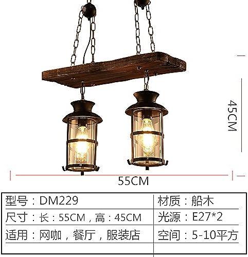 Kang @ artistique Créativité Suspension Lampes 2Chambre Tête
