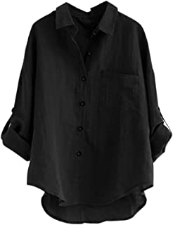 Womens Tops, KIKOY Ladies Long Sleeve Casual Loose Shirt Button Blouse