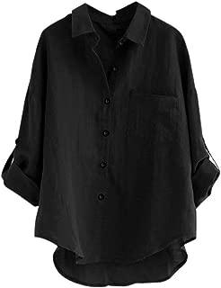 WomensTops, KIKOY Ladies Long Sleeve Casual Loose Shirt Button Blouse