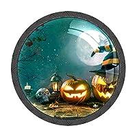 取っ手 引き出しハンドル かぼちゃ 墓 月 把手 家具ハード 食器棚ワード ワードローブ 耐久性 飾り 4個セット 収納ケース付き