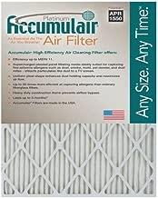 Accumulair Platinum 20X20X1 Filter MERV 11 Pack of 4