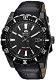 Orient Men's Nami Stainless Steel Japanese-Automatic Diving Watch with Leather...