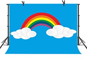 FUERMOR Background 7x5ft Rainbow Photography Backdrop Children Newborn Photo Video Props Room Mural GEFU697