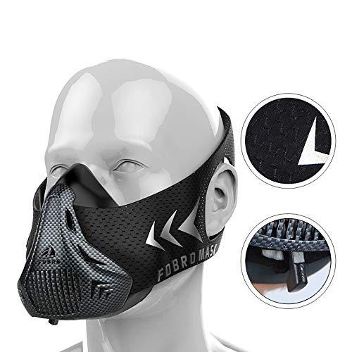 Sportmasker Elevation Masker voor hoogtetraining Small koolstofvezel.