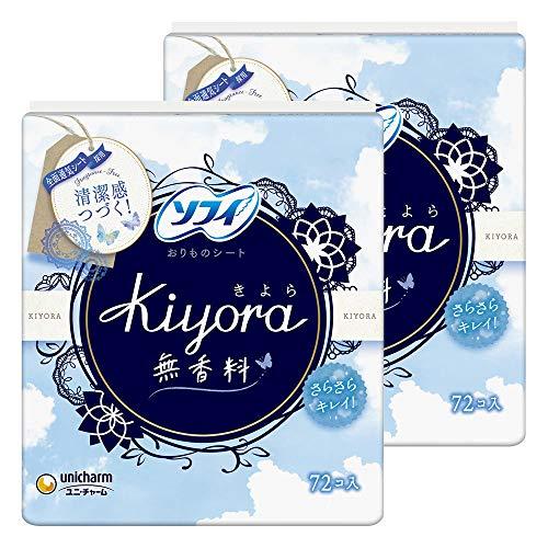 スマートマットライト 【まとめ買い】ソフィ Kiyora 無香料 72コ入×2個パック(unicharm Sofy)