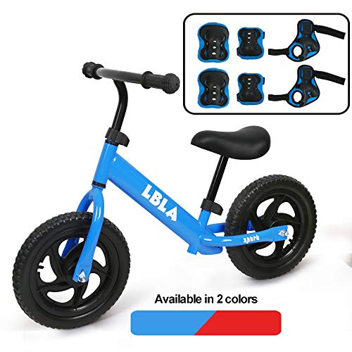 Kids Sport Balance Bike,Classic Push Walking Bicycle Toy with Hand,Elbow and Knee Pads,Lightweight Balance Bike-No Pedal Sport Training Bicycle for Boys Girls Kids(Blue