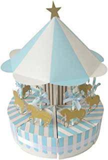 Gift Box Paper Carousel Gift Box Wedding Favors Souvenirs for Guests Party Baby Shower Cake Children Decoration Gift Box (...