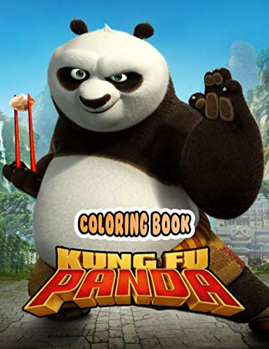 Kung Fu Panda Coloring Book: Great Coloring Pages 8.5x11 inches - Perfect Gift for Son Daughter - 50+ Funny Pages Panda Po Learn Kungfu Coloring