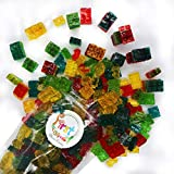 FirstChoiceCandy 3D Assorted Gummy Building Blocks Juicy Candy Blox, 2 Pound