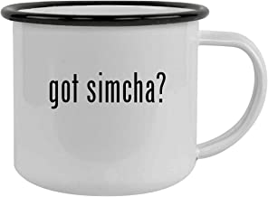 got simcha? - Sturdy 12oz Stainless Steel Camping Mug, Black