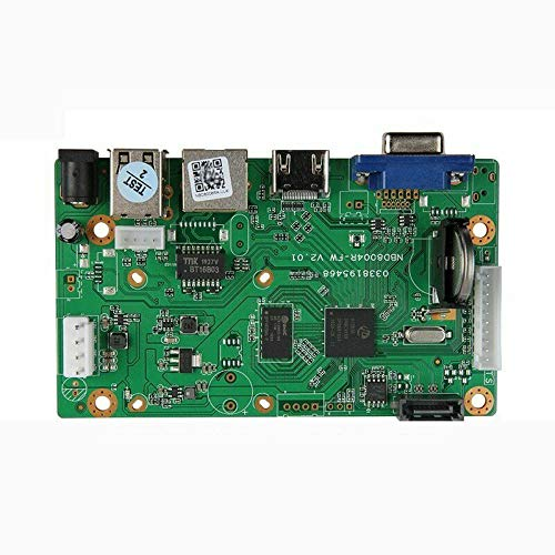 Quanmin 9CH/8CH 5MP ONVIF H.265/H.264 CCTV NVR Board 1080P Security NVR Module Network Digital Video Recorder mainboard Max Support 8TB SATA HDD XMEYE CMS with SATA Cable P2P Cloud Mobile Monitoring