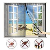 マグネット式網戸,防蚊や虫電磁ドアり され 取付簡単に自動的に密閉,適用最もするドア/ベランダ/玄関/アパート ベランダ サッシドア 穴をあける必要がなく,ほとんどのドアや窓に使用されています-Black B||68x88inch(175x225cm)