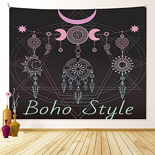 KHKJ Mandala Sun Moon Tapiz cabecero Colgante de Pared Arte Dormitorio Tapiz para Sala de Estar Dormitorio decoración del hogar A7 150x130cm