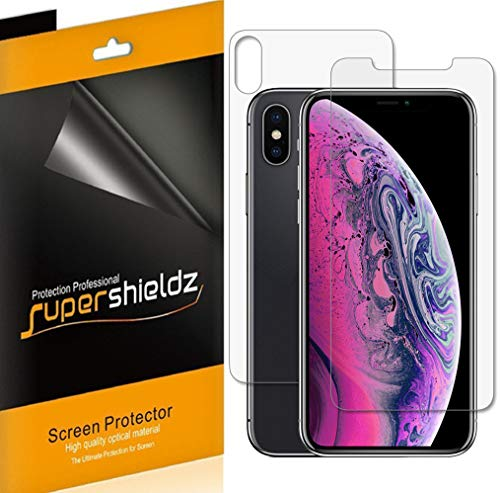 Supershieldz for Apple iPhone Xs Max (6.5 inch) (Front and Back) Full Body Screen Protector, (3 Front and 3 Back) 0.23mm, High Definition Clear Shield (PET)