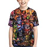 Camiseta de Five Nights at Freddy's Cool Crewneck Shirts Kid's de manga corta, 100% algodón (A, XL)
