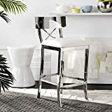 Safavieh American Homes Collection Zoey White Stainless Steel...