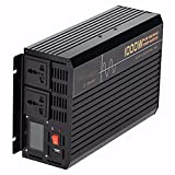 LONGRING Onda sinusoidal Pura 1000W Pico 2000W 12V24VTO 220V inversor para el inversor del Uso del hogar para el Aire Acondicionado del Coche,24v 220v 1000w