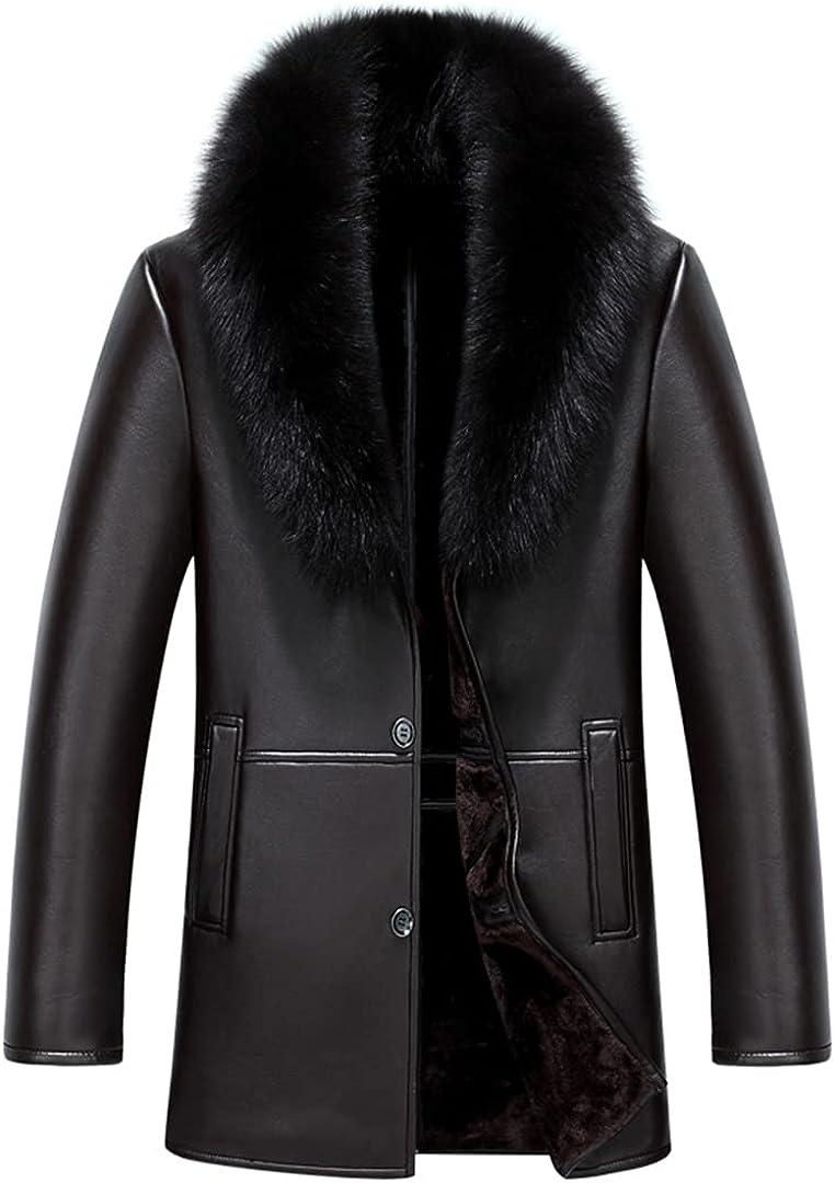 Mens Clothing Leather Coat Parka Real Long Plush Thick Sheepskin Oversize Jackets