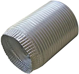 Speedi-Products EX-AFC 396 3-Inch Diameter by 96-Inch Length Aluminum Flex Pipe Crimped One End