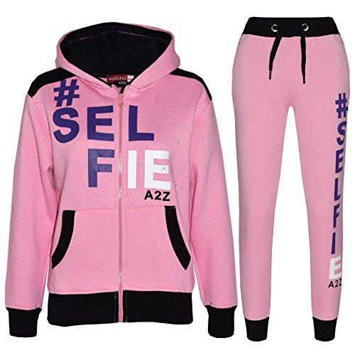 A2Z 4 Kids A2Z 4 Kids Kinder Mädchen Jungen Designer Baby Rosa Trainingsanzug - T.S Selfie 01. Baby Pink 5-6