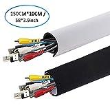 AGPTEK - Funda para Cables Organizador de Cables en Material Elastico de Neopreno (Longitud 149cm x 10 cm de Amplia), 1 Pieza