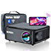 """5G WiFi Bluetooth Projector, WiMiUS K1 7500L Video Projector Native 1920x1080 LED Projector Support 4K, ±50° Keystone, 50% Zoom 400"""" Office Software Works with Fire TV Stick PC DVD PS4 Smartphones (Renewed)"""
